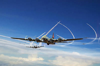 B-17 Wall Art - Digital Art - The Mighty Eighth by Peter Chilelli