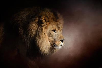 Cat Art Photograph - The Mighty Lion by Jai Johnson