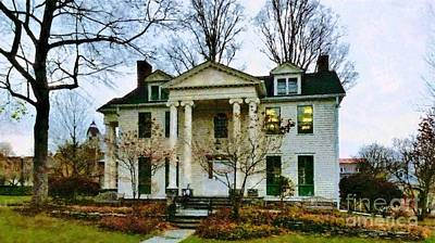 Photograph - The Milford Community House In Spring  by Janine Riley