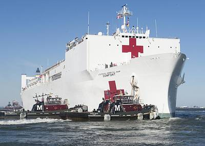 Armed Forces Mixed Media - The Military Sealift Command Hospital Ship Usns Comfort by Celestial Images