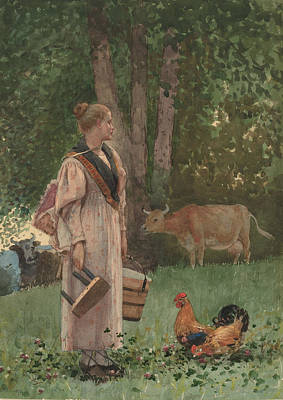 Painting - The Milk Maid by Winslow Homer