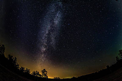 Photograph - The Milky Way - A Fisheye Lens View by Steve Harrington