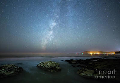 Photograph - The Milky Way And Avila Beach by Mimi Ditchie