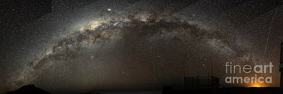Painting - the Milky Way Arch our home galaxy by Celestial Images