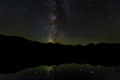 Photograph - The Milky Way At Sprague Lake by Tim Stanley