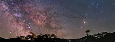 The Milky Way Core Art Print