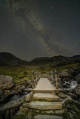 Photograph - The Milky Way Over Snowdonia, North Wales by Andy Astbury