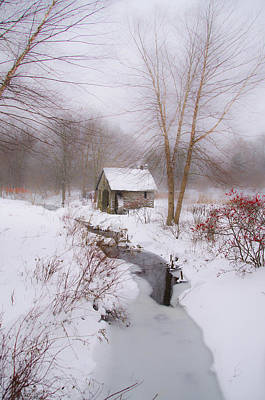 Philadelphia Phillies Digital Art - The Mill And Creek At Morris Arboretum by Bill Cannon