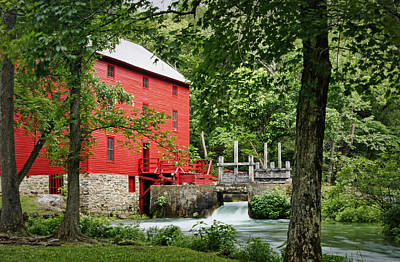 The Mill At Alley Spring Art Print