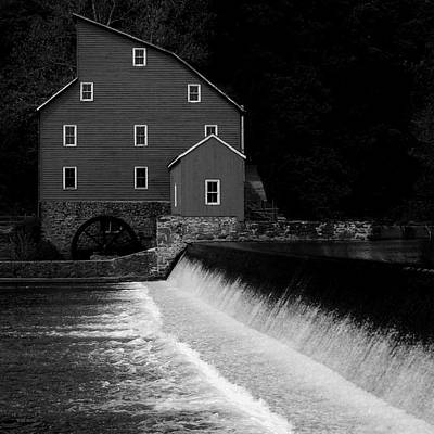 Photograph - The Mill - Black And White by Val Arie