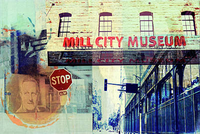 Stop Sign Digital Art - The Mill District In Minneapolis by Susan Stone