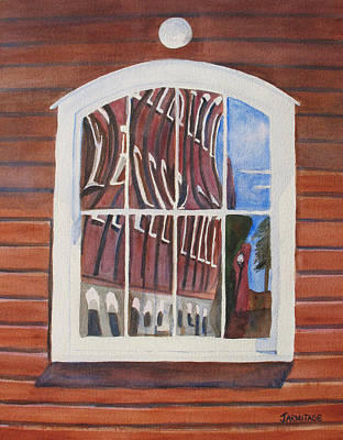 Building Factory Painting - The Mill House Reflects Upon Itself by Jenny Armitage