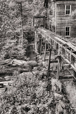 Old Mills Photograph - The Mill In Black And White by JC Findley