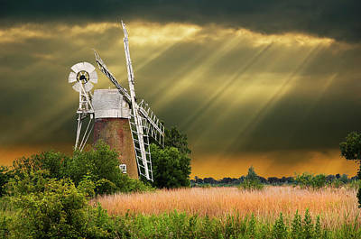 Photograph - The Mill On The Marsh by Meirion Matthias
