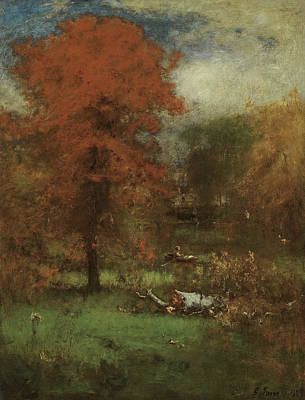 Autumn In The Country Painting - The Mill Pond by George Inness