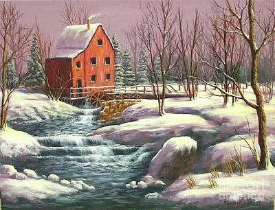 Gristmill Painting - The Mill by Sonsoles Shack