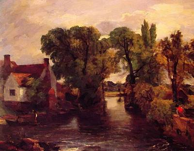 Painting - The Mill Stream 1815 by Constable John
