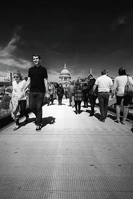 Photograph - The Millennium Bridge London St Pauls by John Williams