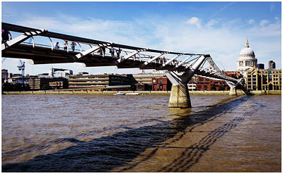 Photograph - The Millennium Bridge by Stewart Marsden