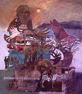 Betty Billups Wall Art - Painting - The Millennium Of The Northwest by Betty Jean Billups