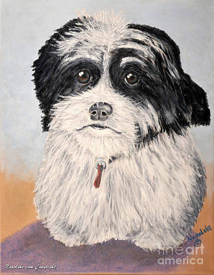 Shih-poo Painting - The Millie by Barney Napolske