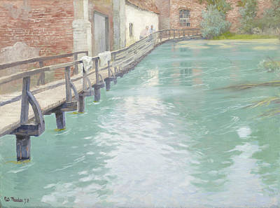 Painting - The Mills At Montreuil-sur-mer, Normandy by Frits Thaulow