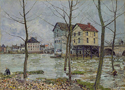 Water Mill Painting - The Mills At Moret Sur Loing by Alfred Sisley