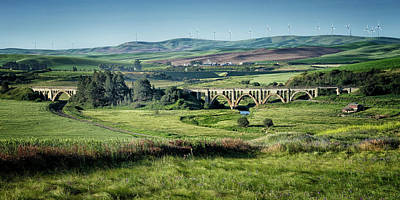 Photograph - The Milwaukee Road Railroad Viaduct Near Rosalia Wa 1x2 Dsc05095 by Greg Kluempers