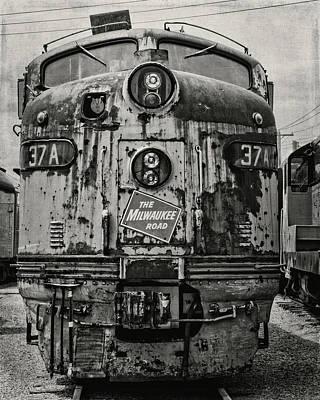 Milwaukee Road Photograph - The Milwaukee Road Train by Emily Kay