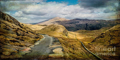 Hydro Wall Art - Photograph - The Miners Track  by Adrian Evans