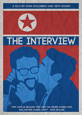 The Minimalist Movie Poster- The Interview Art Print by Celestial Images