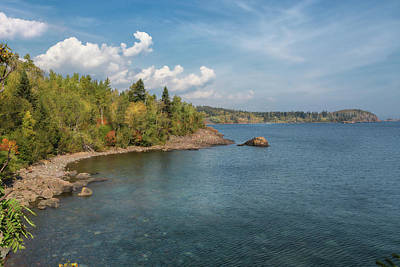 Photograph - The Minnesota Side Of Lake Superior by John M Bailey