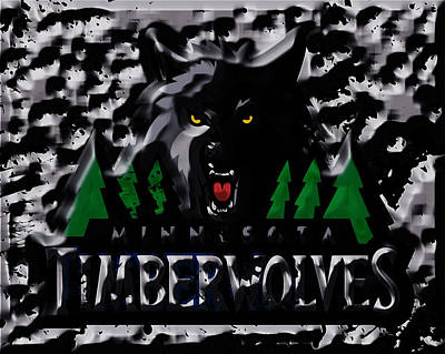 Minnesota Timberwolves Mixed Media - The Minnesota Timberwolves 1a by Brian Reaves