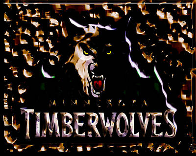 Minnesota Timberwolves Mixed Media - The Minnesota Timberwolves 1b by Brian Reaves