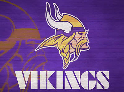 Mixed Media - The Minnesota Vikings by Dan Sproul