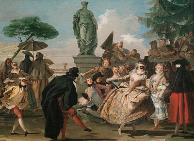 Painting - The Minuet by Giovanni Domenico Tiepolo