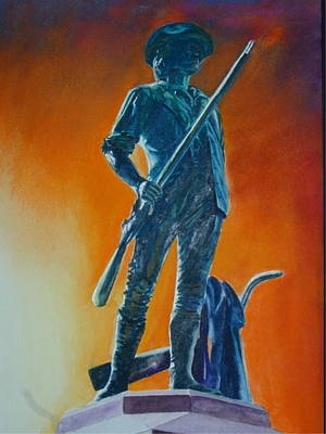 The Minuteman Art Print by Dwight Williams