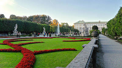 Photograph - The Mirabell Palace In Salzburg by Silvia Bruno