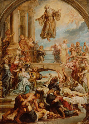 Counter Painting - The Miracles Of Saint Francis Of Paola by Peter Paul Rubens