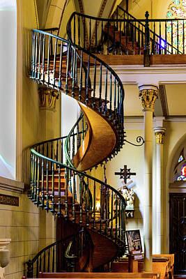 The Miraculous Stairway - Loretto Chapel - Santa Fe - New Mexico Art Print