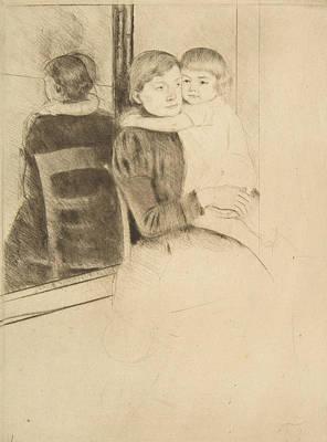 Relief - The Mirror by Mary Cassatt