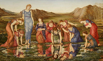 Painting - The Mirror Of Venus by Edward Burne-Jones