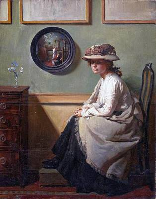 Sir William Orpen Painting - The Mirror  by MotionAge Designs
