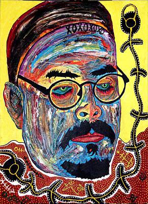 The Mirrors Eyes Art Print by Jay Lonewolf