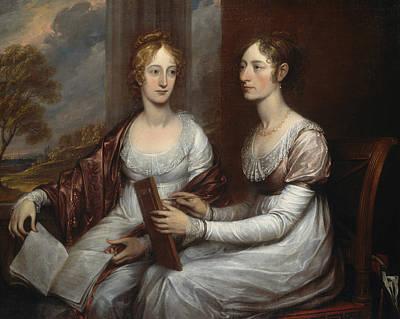 The Misses Mary And Hannah Murray Art Print by John Trumbull