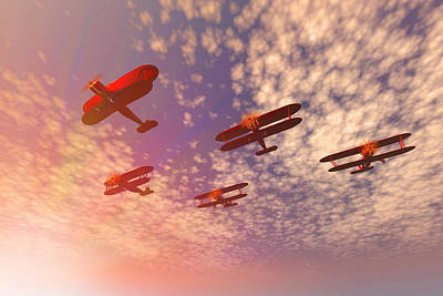 Missing Man Formation Digital Art - The Missing Man. by Carol and Mike Werner
