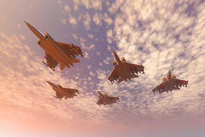 Missing Man Formation Digital Art - The Missing Man Formation. by Carol and Mike Werner