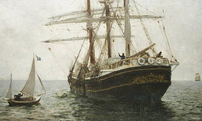The Missionary Boat Art Print by Henry Scott Tuke