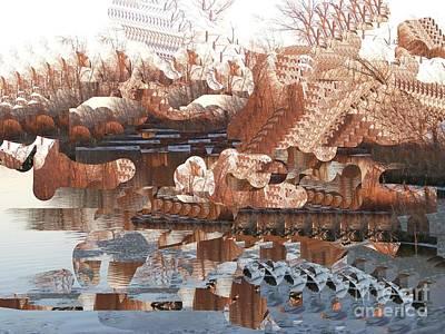 Digital Art - The Mississippi In Winter by Nancy Kane Chapman