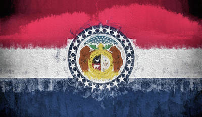 Digital Art - The Missouri Flag by JC Findley